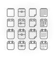 binder silhouettes collection icons isolated on vector image vector image