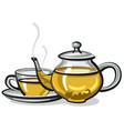 hot green tea vector image vector image
