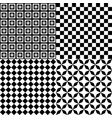 black and white hypnotic psychedelic background vector image vector image