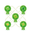 Saint Patricks Day Badges vector image