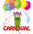 Carnival card vector image