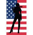 baseball woman vector image