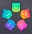 Vivid Elements with SEO icons vector image vector image