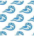 Blue waves seamless pattern on white vector image