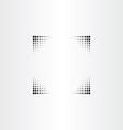 black halftone border frame vector image
