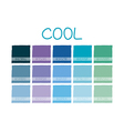 Cool Color Tone vector image