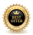 Best Offer Badge vector image