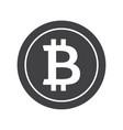 black bitcoin icon vector image