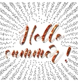 Brush lettering composition Phrase Hello Summer vector image