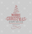 christmas and new year postcard with tree and vector image