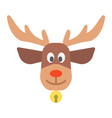christmas deer flat icon new year and christmas vector image