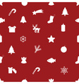 christmas icon pattern eps10 vector image