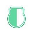 heater shield round bottom healthy green vector image