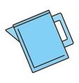 jug blue water juice design vector image