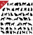 pets silhouettes vector image