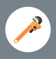 pipe wrench icon working hand tool equipment vector image