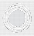 realistic ripped squared paper circle elements vector image