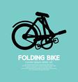 Single Folding Bike Graphic vector image