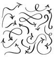 Set of art calligraphy flourish vintage decorative vector image