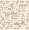Bakery seamless pattern food background of vector image