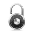 Lock black Security Concept padlock vector image