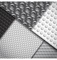 Set of several seamless carbon fiber patterns vector image vector image