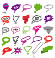 biggest collection of bubbles and ribbon vector image vector image