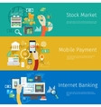 Set of payment concept web banners vector image vector image