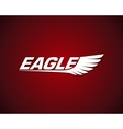 graphic eagle symbol with wings vector image