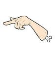 comic cartoon halloween pointing hand vector image