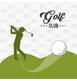 Golf icon design vector image