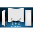 blank trade show booth display vector image