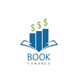 book finance logo vector image