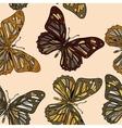 butterflies in zentagle style vector image
