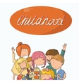 Fun kids Girls and boys watching vector image