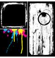grunge elements overlay vector image