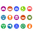 hotel buttons icon set vector image