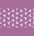 origami hummingbird seamless pattern vector image