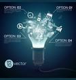 splinter ideas bulb concept vector image
