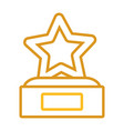 star trophy design vector image