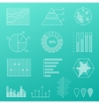 Outline diagram thin line graphs charts vector image