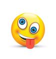 crazy emoji vector image vector image