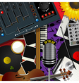 Scrapbook modern music vector image