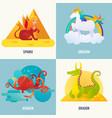 fantasy creatures concept vector image