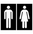 Toilet wc restroom sign vector image vector image