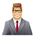 elegance smiling man with glasses vector image vector image