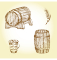Beer theme drawings vector image vector image