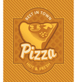 Pizza retro vector image vector image