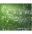 music background with notes vector image vector image