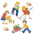 children workings vector image vector image